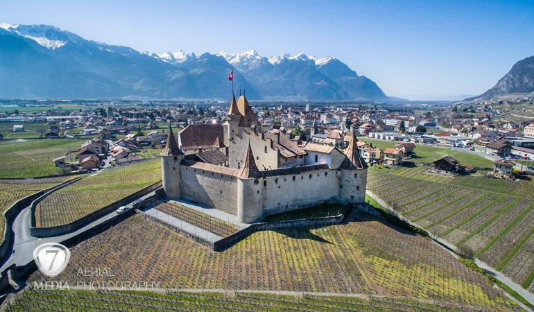 Château Aigle photo aérienne drone - 7Media