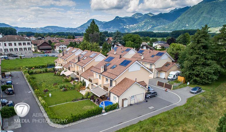 Promotion immobilière et maison de particulier - photo aérienne drone - 7Media