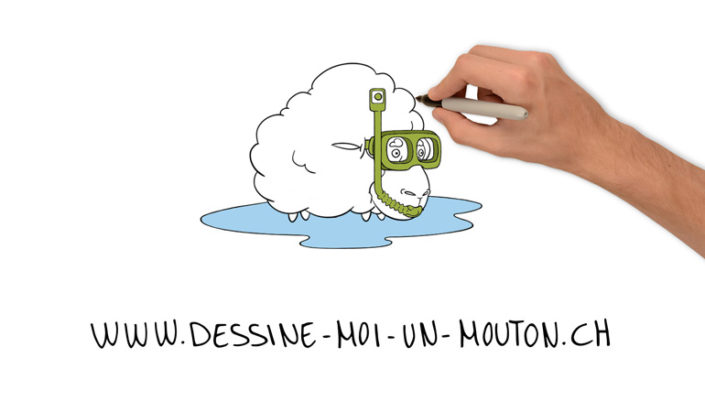dessin-moi un mouton whiteboard animation